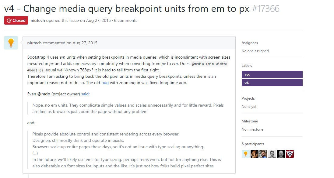 Modify media query breakpoint units from 'em' to 'px'