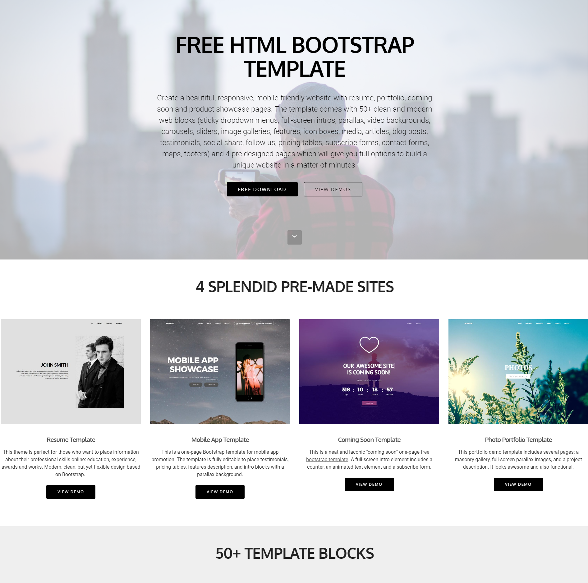 Best 57 Brand New Free Download Bootstrap Themes Of 2018