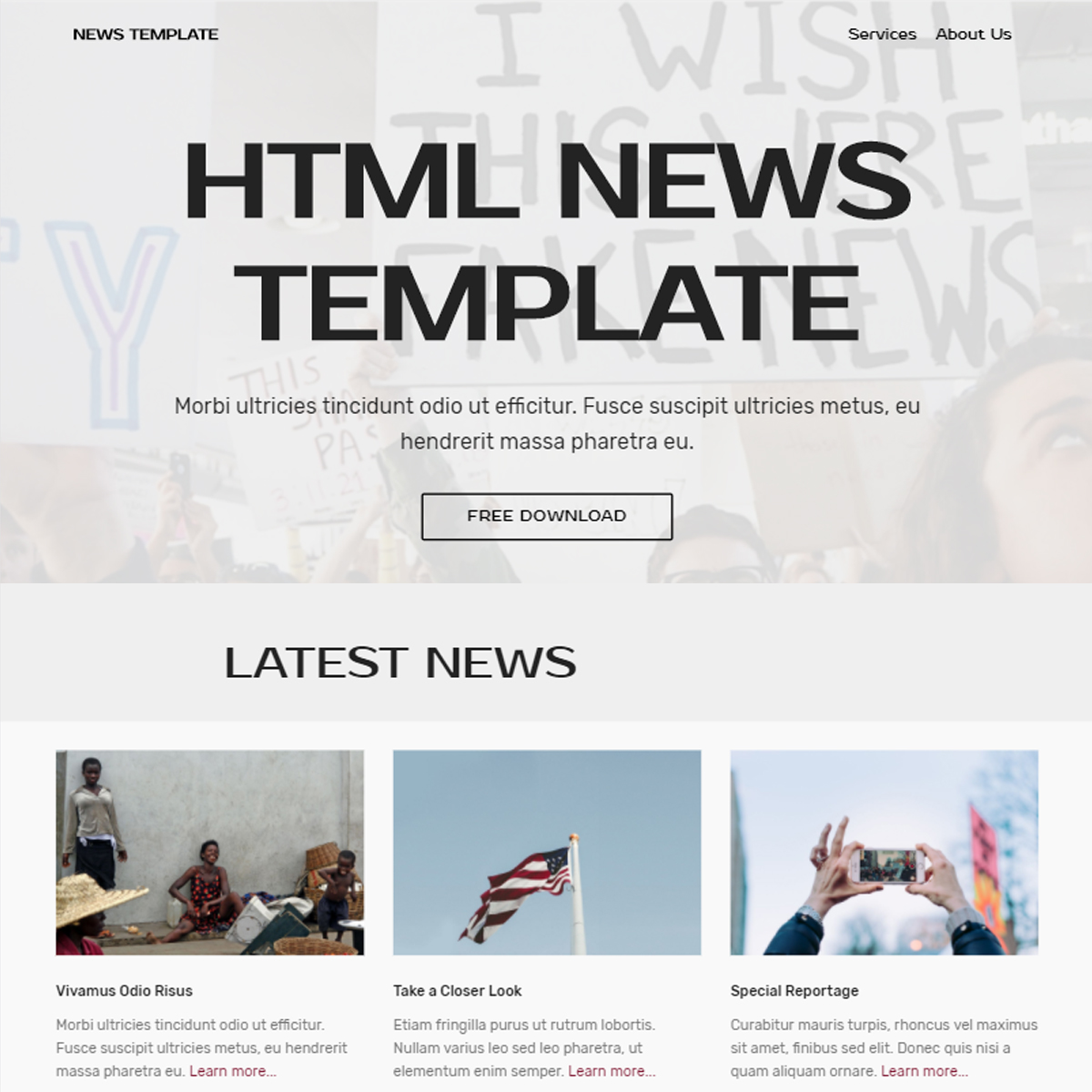 Free Bootstrap News Themes